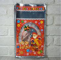 Новорічні пакети для цукерок і подарунків (20*35) Дід Мороз і ведмеді, 100 шт\пач