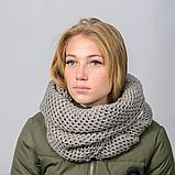 Женский шарф снуд вязаный, фото 3