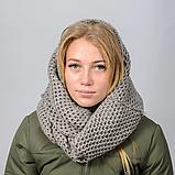 Женский шарф снуд вязаный, фото 4
