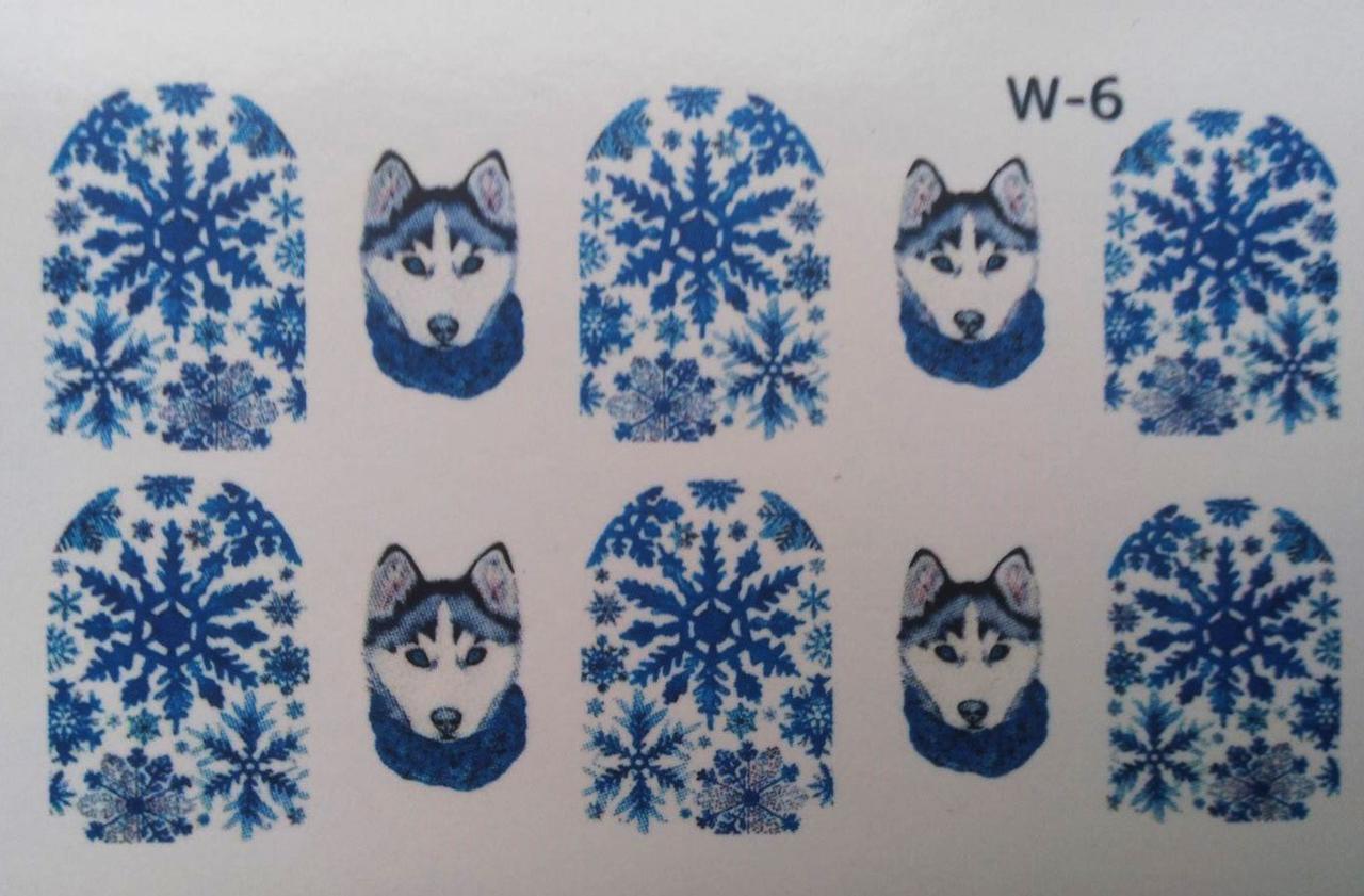 Водные наклейки (слайдер дизайн) Новогодний дизайн W-6