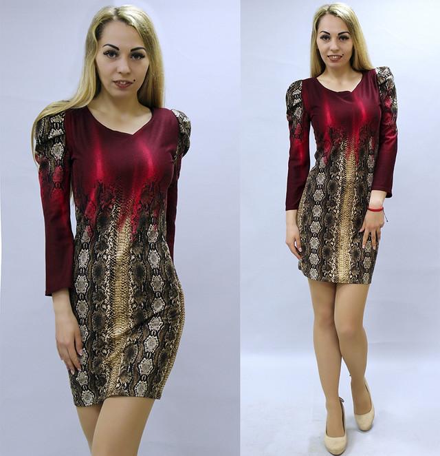 Сильне жіноче плаття з зміїним принтом міні