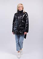 Пальто зимнее на силиконе черное
