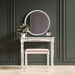 """Туалетный столик с зеркалом и банкеткой """"Ренессанс Белый"""""""