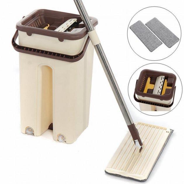 Швабра с ведром со складной ручкой и системой отжима Scratch Cleaning Mop