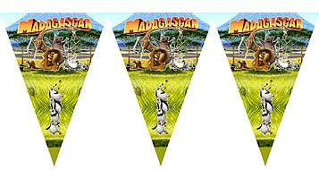 """""""Мадагаскар"""" - Вымпел, 15 флажков."""