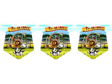 """""""Мадагаскар"""" - Флажки, 12 флажков."""