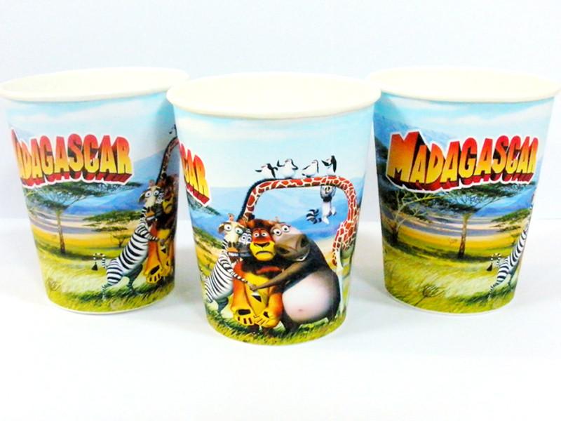 """""""Мадагаскар"""" - Стаканчики 250 мл."""