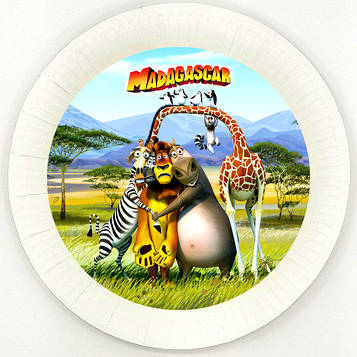 """Мадагаскар"" - Тарелочки 18 см."