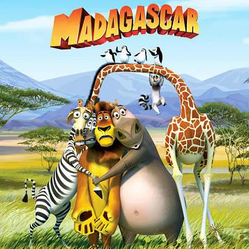 """""""Мадагаскар"""" - Топперы+Облако и Флаг, Укр"""