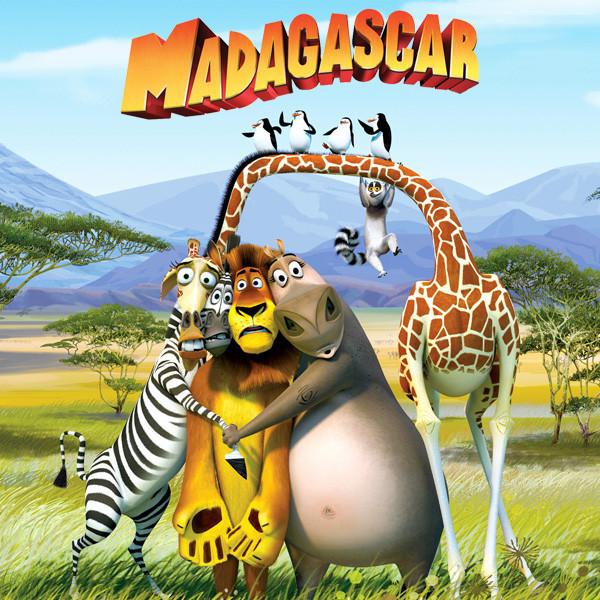 """""""Мадагаскар"""" - Наклейка Сок 6,5*8,5 см."""