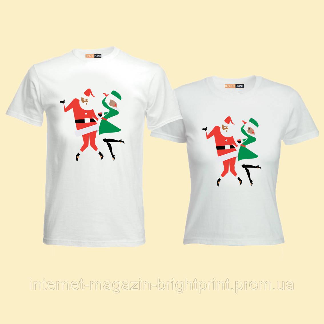 """Парний набір футболок """"Новорічна Ніч"""""""