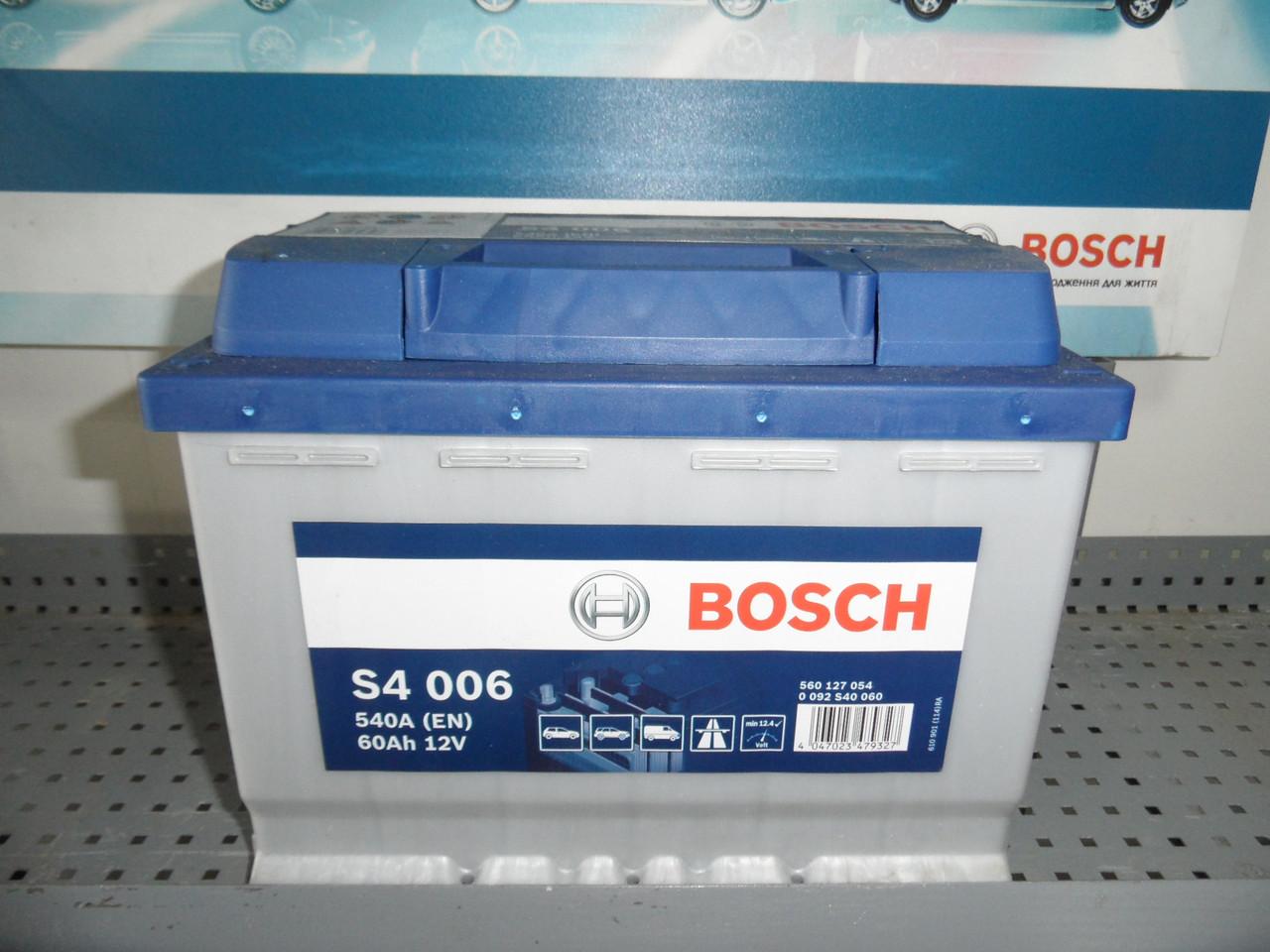 Автомобільний акумулятор BOSCH 0092S40060, S4 60Ah+-,АКБ.