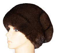 "Норковая шапка ""Александра"" (орех)"