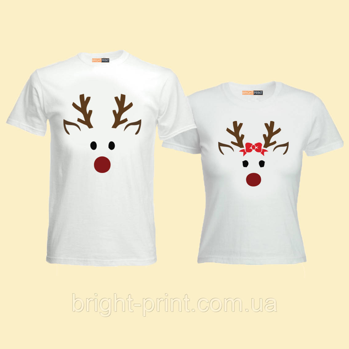 """Парний набір футболок """"Пара оленів"""""""