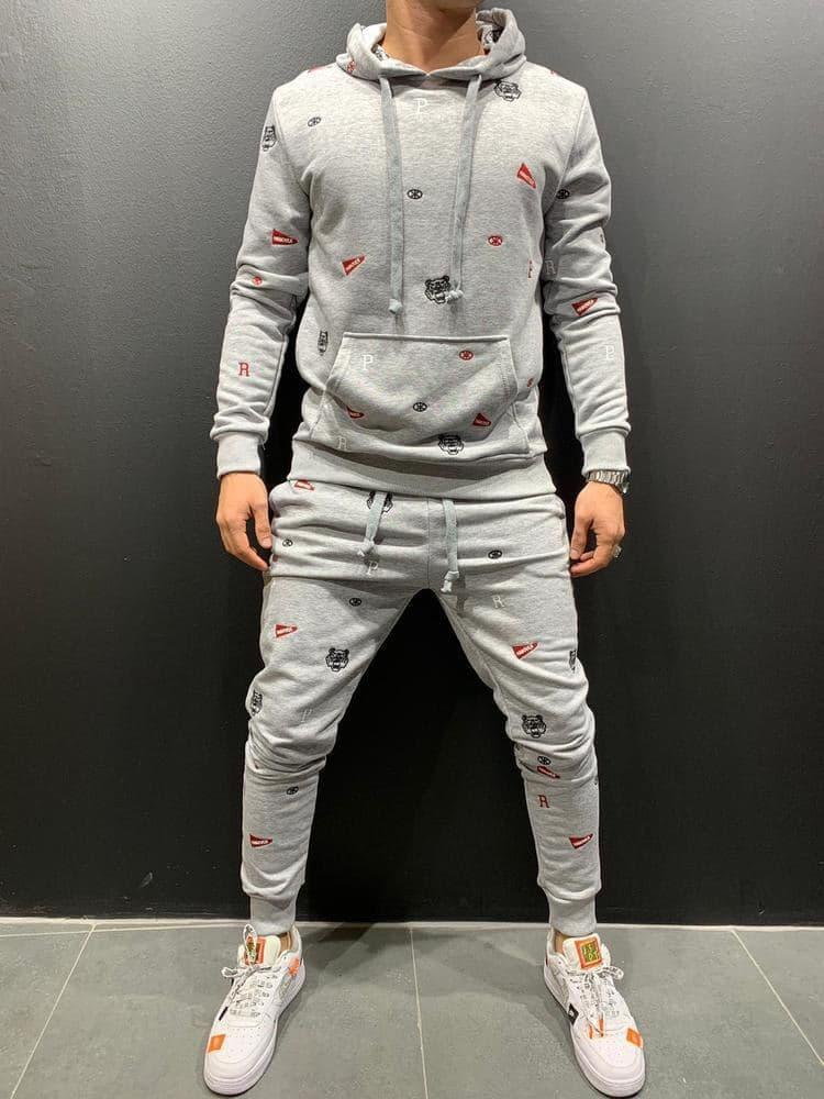 Мужской спортивный костюм 2Y Premium 9070 grey