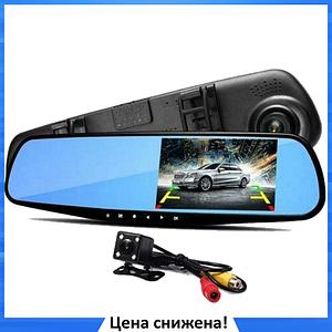 Автомобильный видеорегистратор DVR L9000 FullHD 1080p - видеорегистратор зеркало с двумя камерами