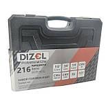 Качественный набор инструментов 216 предметов DIZEL DZ-216. Профессиональный!, фото 4