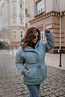 """Женская зимняя куртка с поясом """"Holiday"""", фото 1"""