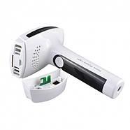Портативный лазерный эпилятор (фотоэпилятор) Kemei KM 6812 для лица и тела, фото 4