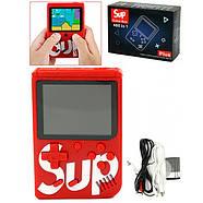 Портативная игровая приставка на 400 игр dendy SEGA 8bit SUP Game Box Красная, фото 4