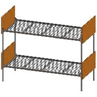 Кровать металлическая (ширина 900 мм)