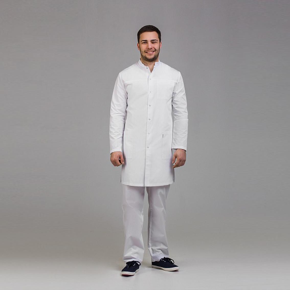 Медицинский халат мужской белый