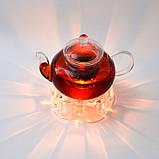 Чайник стеклянный. Подставка для чайника. Набор., фото 8