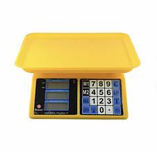 Ваги торгові електронні Domotec MS-266 до 40 кг Жовті (300498)
