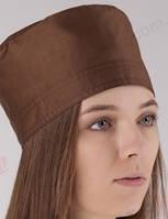 Медицинская шапочка коричневая