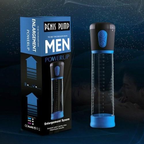 Помпа увеличитель полового члена Вакуумная автоматическая Powerup на батарейках