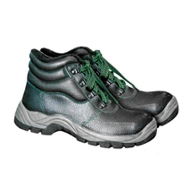 Ботинки кожаные с металлическим подноском утепленные BRG
