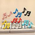 Фольгированный шар мини фигура музыкальная нота голубая  41 см, фото 4