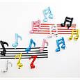 Фольгированный шар мини фигура музыкальная нота голубая  41 см, фото 5