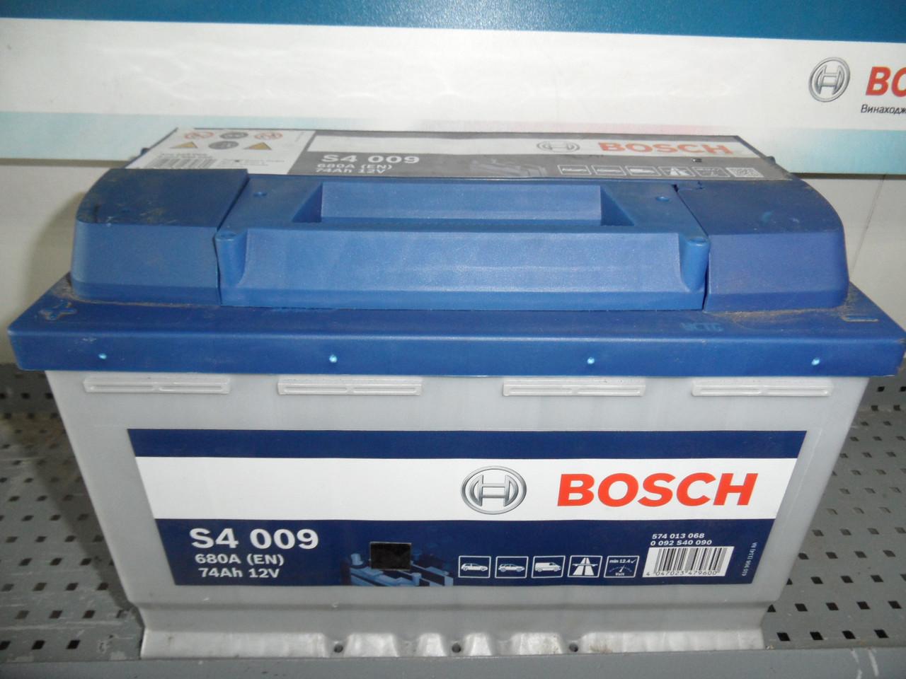 Автомобільний акумулятор BOSCH 0092S40090, 74Ah +-, 12V Bosch S40080 Silver 74 Ач, 278х175х190,АКБ