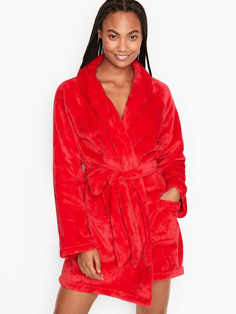 Плюшевый Халат Victoria's Secret Cozy Plush Robe, Красный