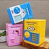 Детская копилка-сейф с кодовым замком и купюроприемником для бумажных денег Cartoon Saving Box, фото 3