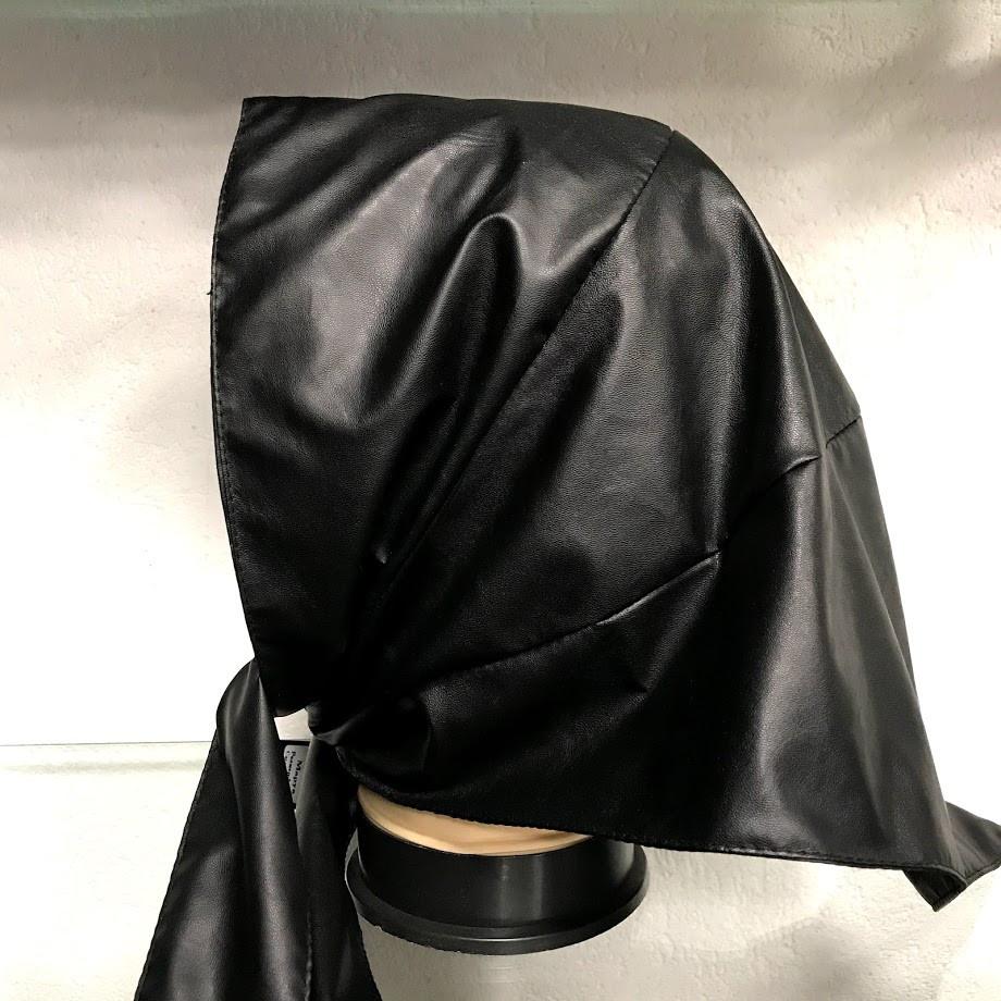 Платок Из Экокожи Черный 072ШП