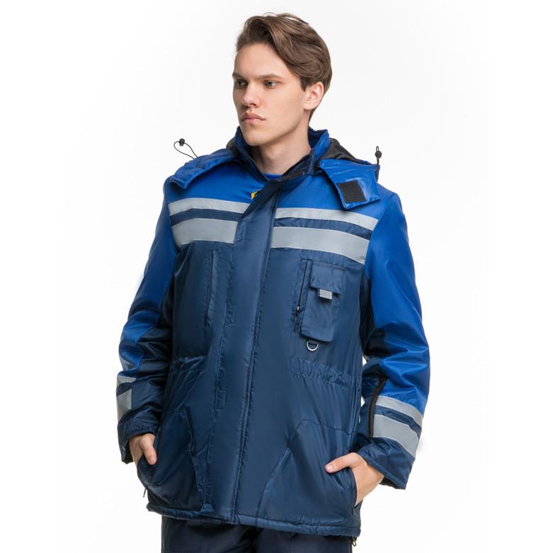 Куртка утепленная тк.оксфорд, синий-васильковый