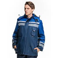 Куртка утепленная тк.оксфорд, синий-васильковый, фото 1