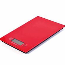 Ваги кухонні електронні Domotec MS-912 до 5kg/ 0.1 gr Червоний (200753 RED)