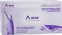 Перчатки медицинские, нитриловые, неприпуренные IGAR размер M (7-8) 1 пара