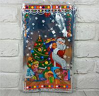 Новорічні пакети для цукерок і подарунків (20*35) Новорічна ніч, 100 шт\пач