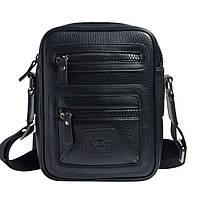 Качественная мужская сумка из экокожи A.Zong черная