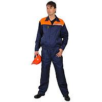 Костюм рабочий летний с брюками, тк.Саржа, темно-синий, фото 1