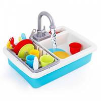 Игровой детский набор кухонная раковина с водой течет вода интерактивная раковина с набором посуды