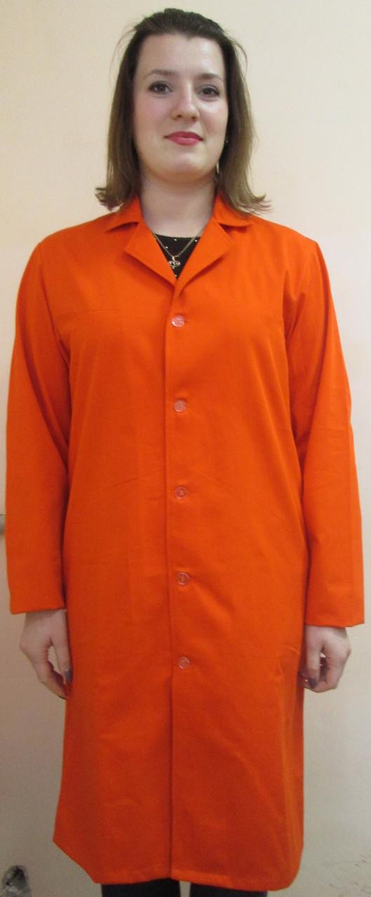 Халат рабочий оранжевый