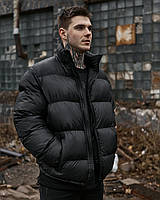 Зимняя мужская куртка Пушка Огонь Homie черная