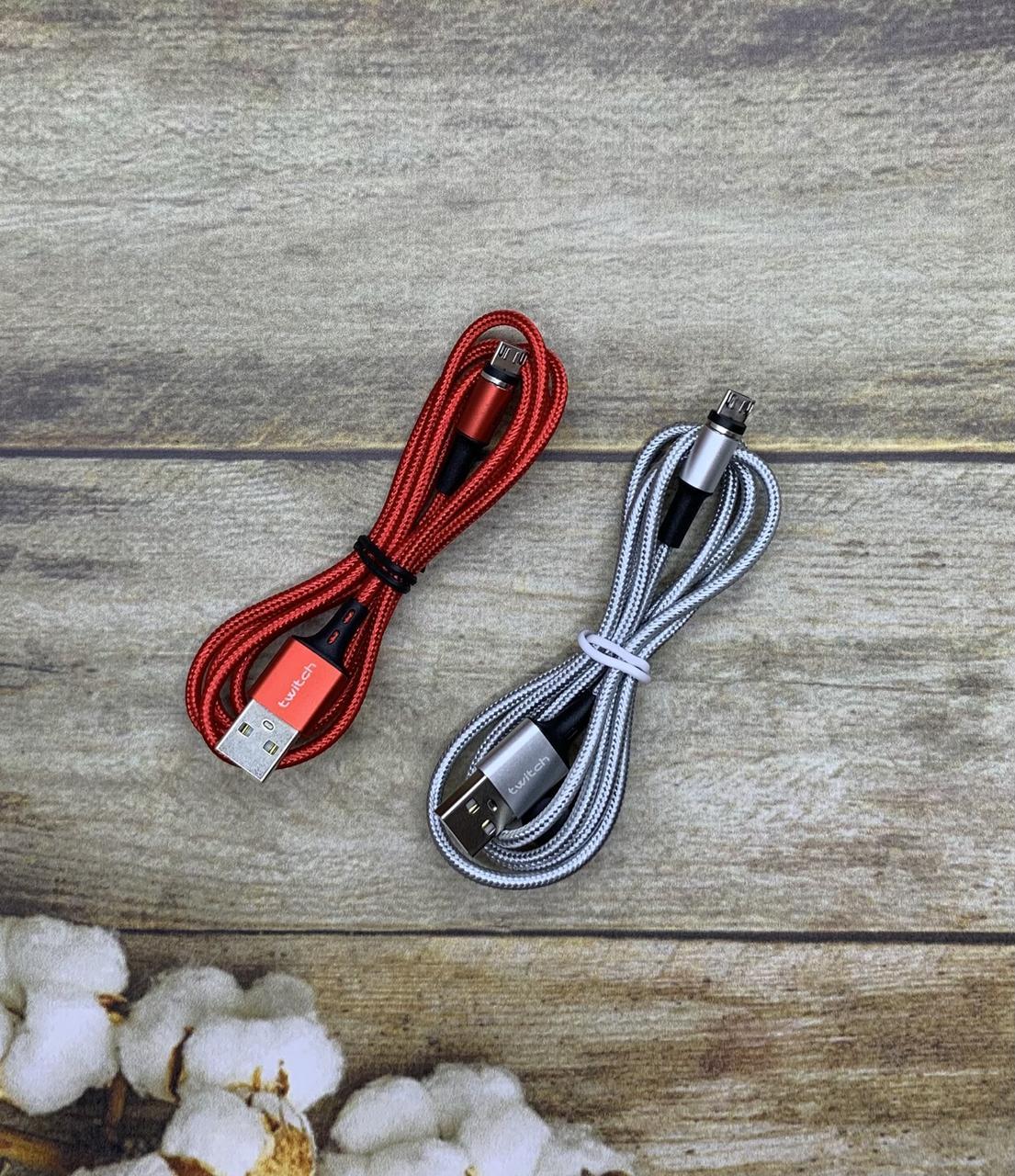 Магнитный Micro USB кабель Twitch 1м зарядный шнур