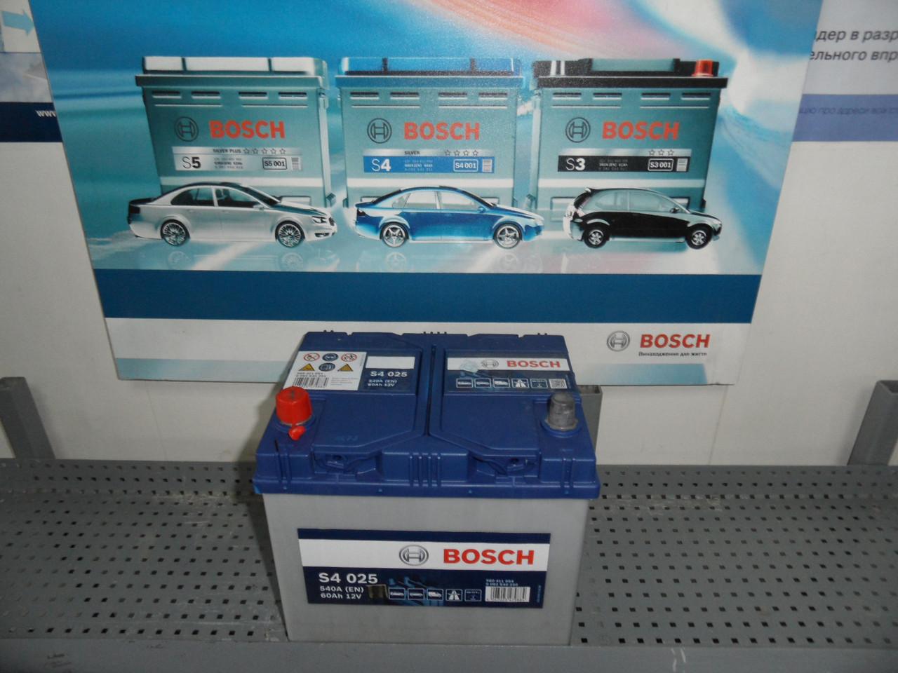 Авто,Акумулятор, BOSCH 0092S40250, 60Ah +/-, 0 092 S40 250, S4,АКБ.