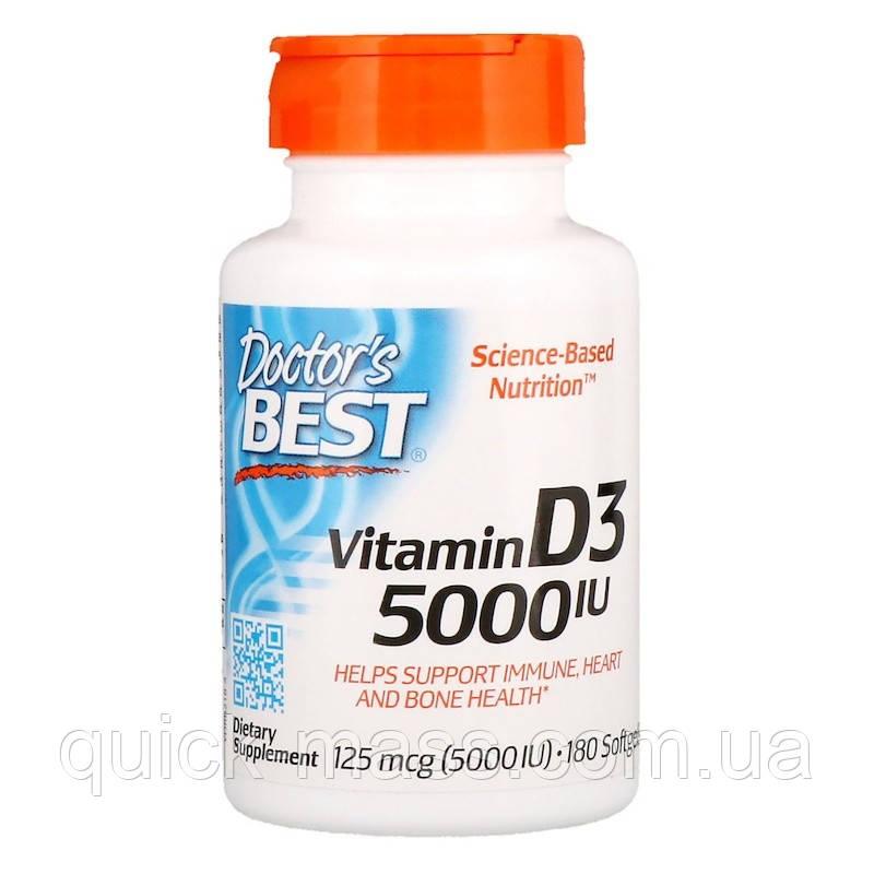 Витамин D3 Doctor's Best Vitamin D3 5000 IU 180 softgels
